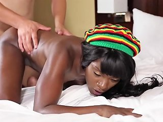 Teenyblack Petite Black Teen Shows Off Her Skills